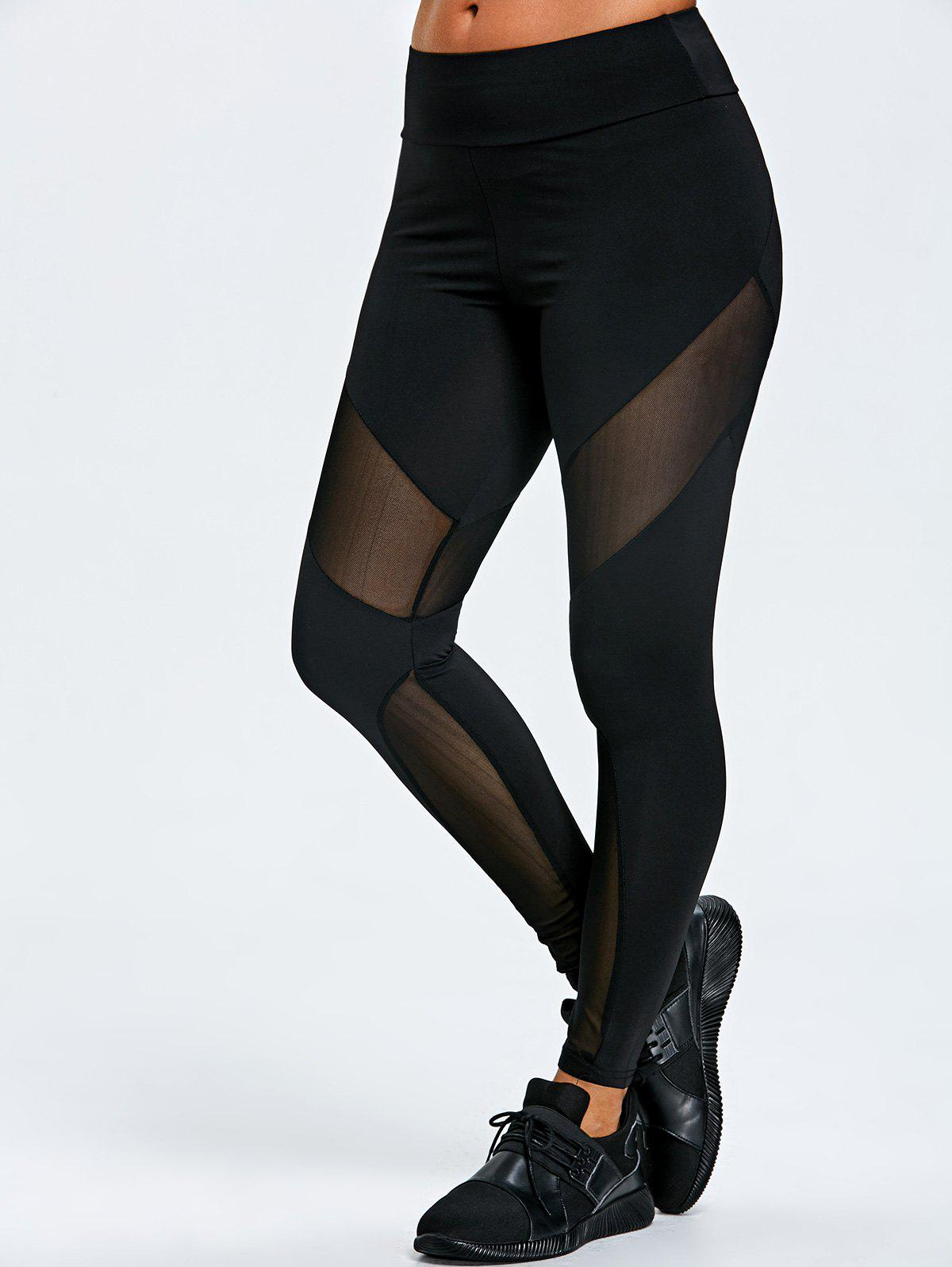 New Mesh Insert Marled Sports Leggings