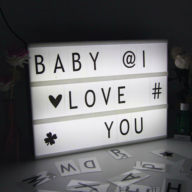 Trendy Valentine Birthday Gift DIY Cinematic Letters Light Box