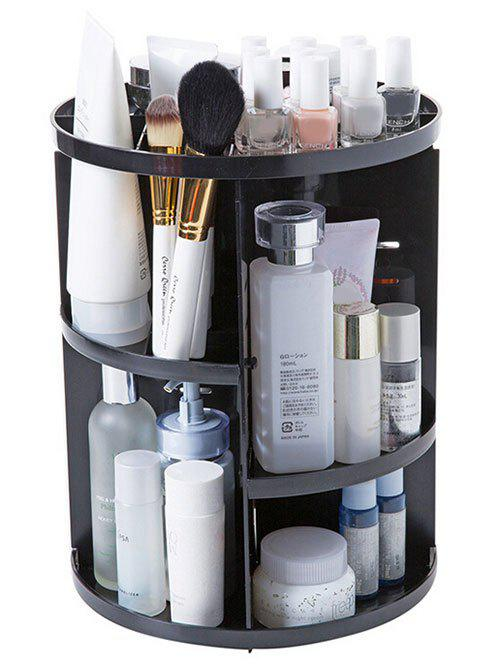 Unique 360 Degree Rotating Round Makeup Storage Rack