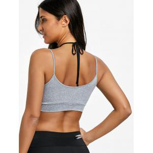 Two Tone Halter Neck Sports Bra -