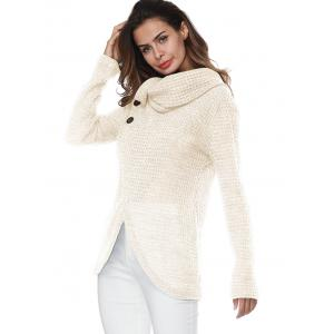 Turtleneck Overlap Wrap Sweater -