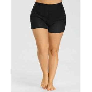 Plus Size Lace Trim Safety Shorts -