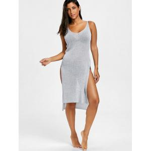 Cami Knitted Slit Cover Up Dress -