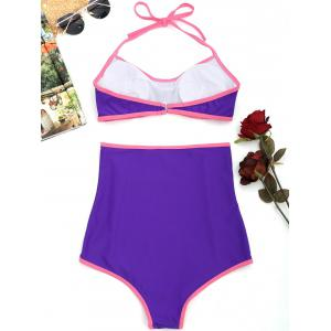 High Waisted Padded Halter Bikini Set -