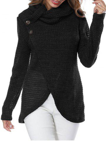 Latest Turtleneck Overlap Wrap Sweater