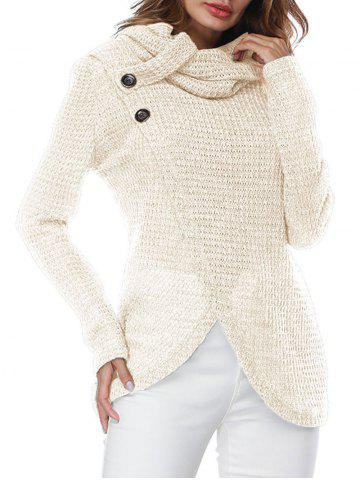 Chic Turtleneck Overlap Wrap Sweater