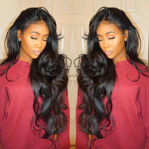 Cheap Long Center Parting Fluffy Loose Wave Synthetic Lace Front Wig