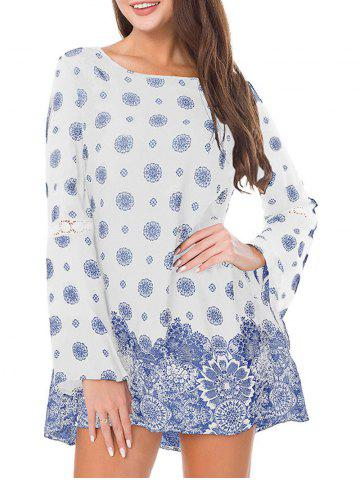 Best Bohemian Print Long Sleeve Dress
