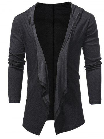 Outfits Open Front Hooded Drape Cardigan