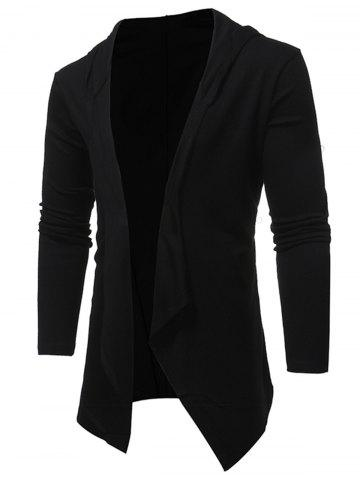 Hot Open Front Hooded Drape Cardigan