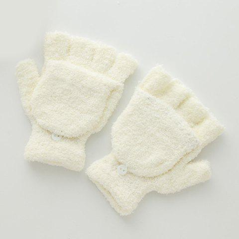 Chic Cashmere Fingerless Hooded Winter Gloves