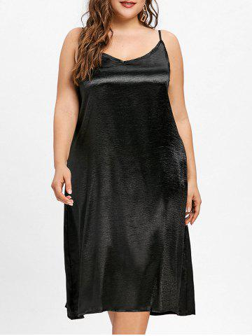 Chic Plus Size Silky Cami Tunic Dress