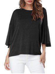 Casual Drop Shoulder Butterfly Sleeve T-shirt -