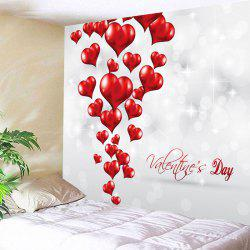 Valentine's Day Love Hearts Patterned Wall Tapestry -