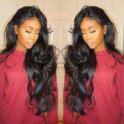 Long Center Parting Fluffy Loose Wave Synthetic Lace Front Wig -