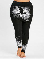 Plus Size Monochrome Skeggings -