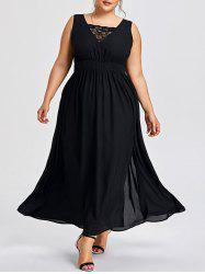 Plus Size Sleevelss High Split Dress -