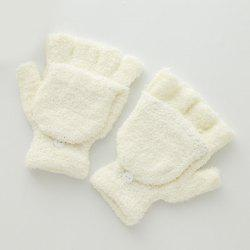 Cashmere Fingerless Hooded Winter Gloves -