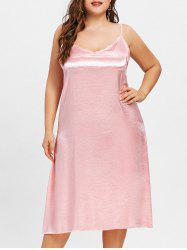 Plus Size Silky Cami Tunic Dress -
