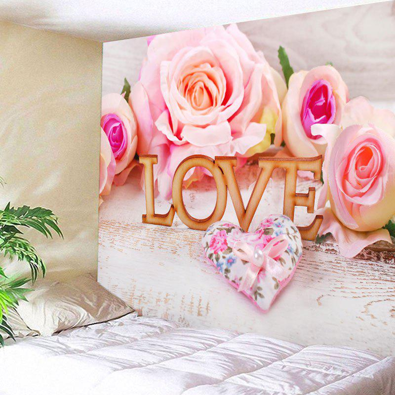 Unique Valentine's Day Perfume Satchel Roses Love Pattern Wall Tapestry
