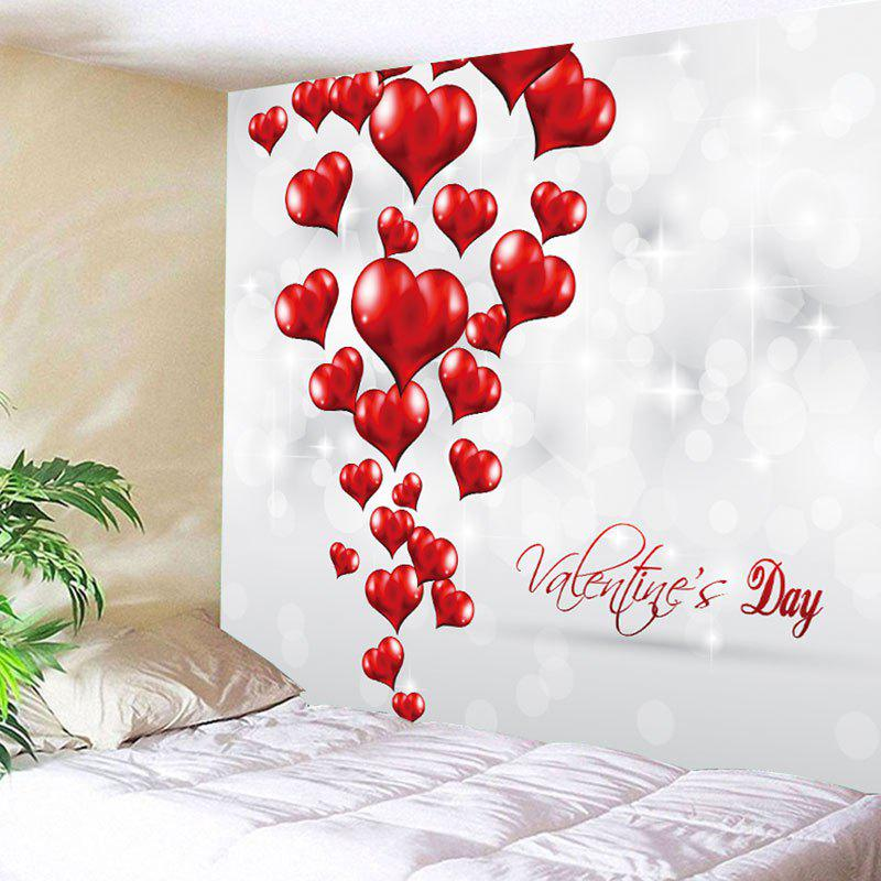 Cheap Valentine's Day Love Hearts Patterned Wall Tapestry