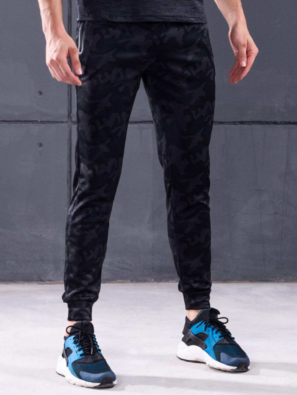 Застежка-молния Pocket Camo Print Jogger Pants