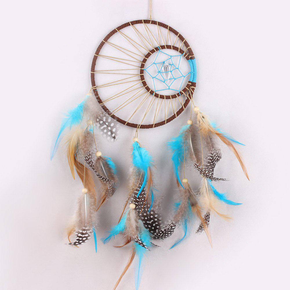 Colormix wall hanging feathers handmade native american for Native american handmade crafts