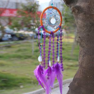 Shell Faux Crystal Feather Handmade Dreamcatcher Decoration -