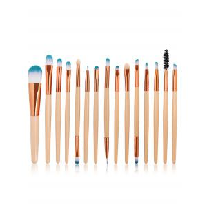 Professional 15Pcs High Quality Fiber Hair Cosmetic Makeup Brush Set -