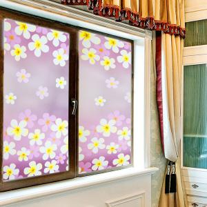 Flowers Pattern One Roll Window Film Stickers -