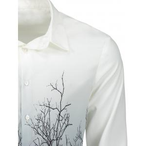 Tree Branches Gradient Color Shirt -