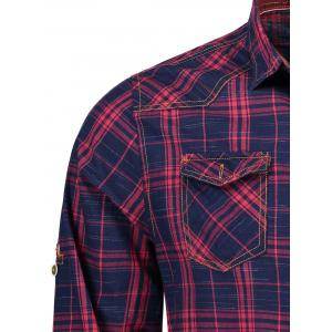Plaid Flap Pockets Shirt -