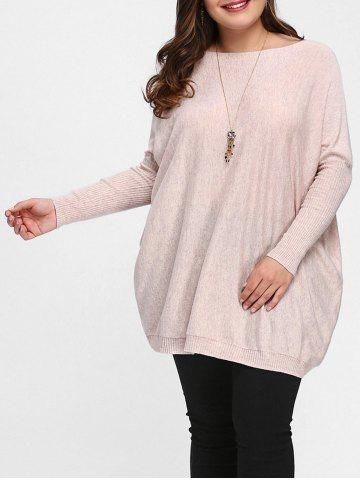Affordable Dolman Sleeve Plus Size Tunic Sweater