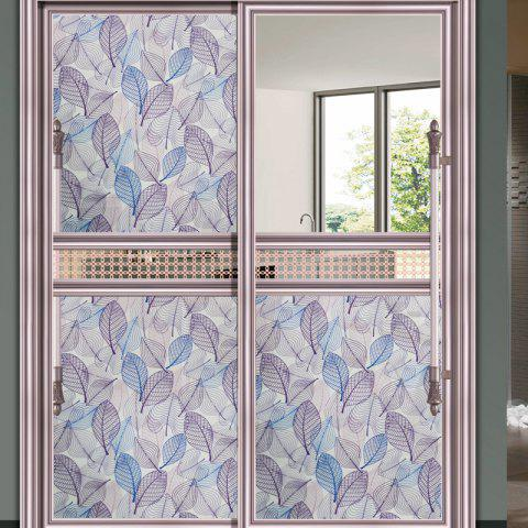 Outfit Leaf Patterned One Roll Window Film Sticker