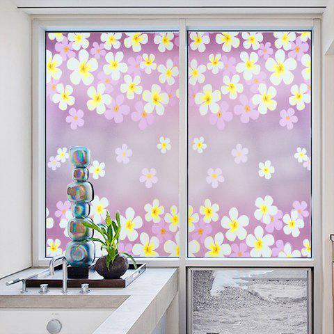 Trendy Flowers Pattern One Roll Window Film Stickers