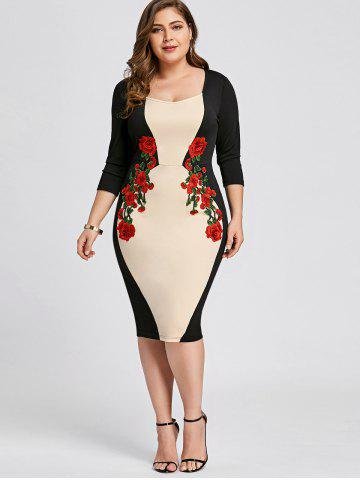 2ad074acb70 Plus Size Embroidered Bodycon Dress