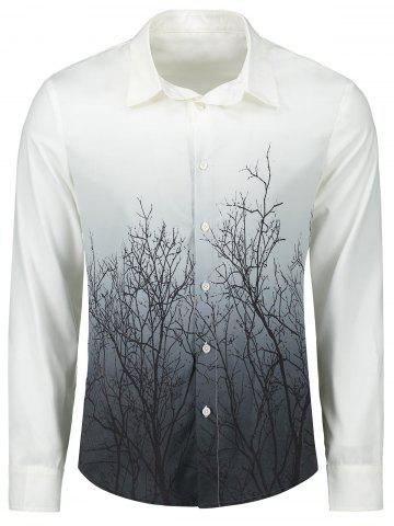 Hot Tree Branches Gradient Color Shirt