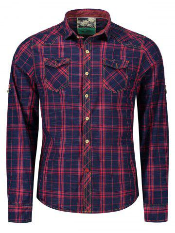 Plaid Flap Pockets Shirt