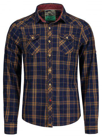 Buy Plaid Flap Pockets Shirt