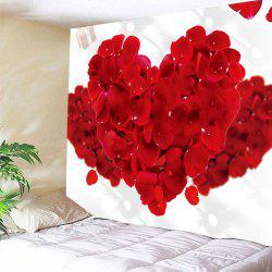 Wall Hanging Valentine's Day Rose Petals Hearts Pattern Tapestry -