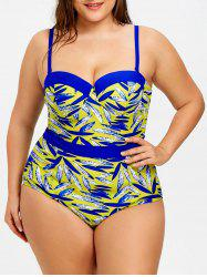 Плюс Размер One Piece Print Swimwear -