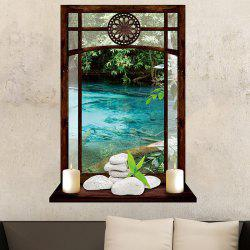 Vintage Window and Candles River Print Wall Art Sticker -