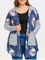 Plus Size Hooded Skulls Cardigan -