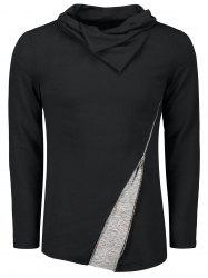 Heaps Collar Inclined Zip T-shirt -