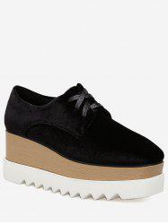 Mid Heel Wedge Casual Shoes -