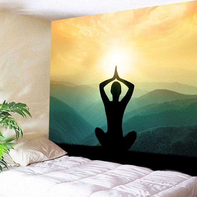 multicolore largeur 79pouces longeur 59pouces tapisserie murale motif pose de yoga sur la. Black Bedroom Furniture Sets. Home Design Ideas