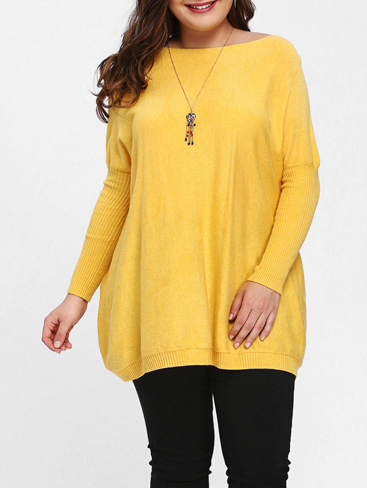 Discount Dolman Sleeve Plus Size Tunic Sweater