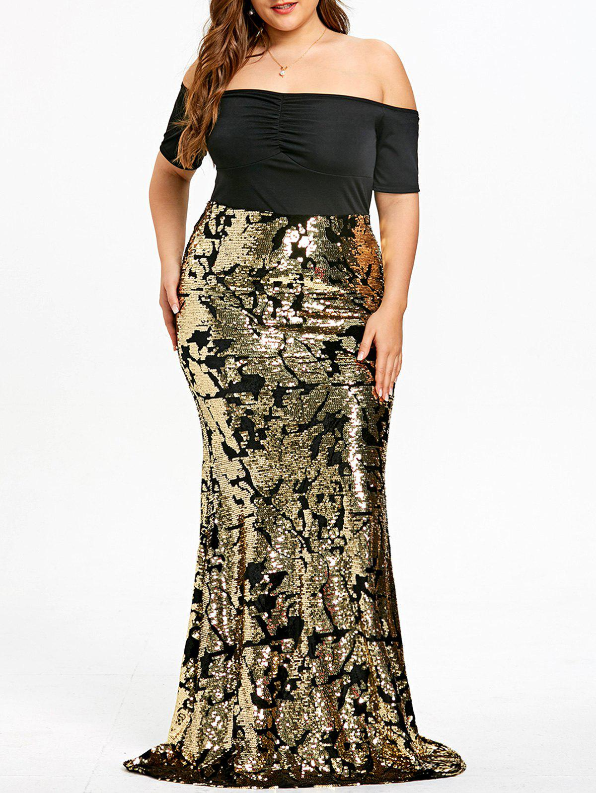 2f409ef019f Trendy Plus Size Sequined Maxi Mermaid Dress