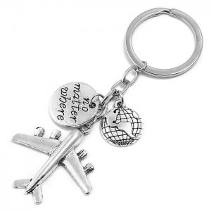 Aircraft Decoration Letter Print Keychain -
