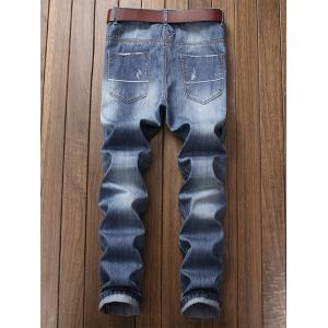 Faded Wash Ripped Jeans -